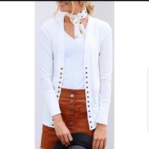 One left!!!   Button up Cardigan Ivory